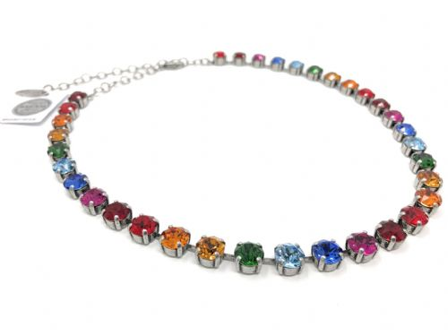 Necklace Rainbow with Swarovski Crystals